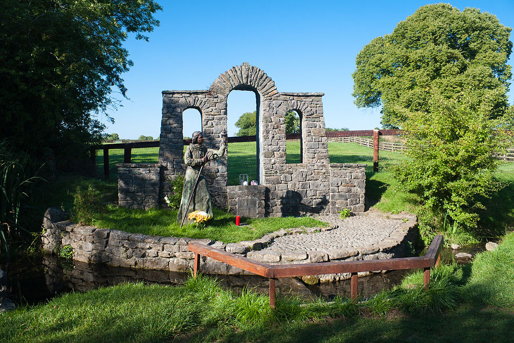 One of my most treasured pilgrimages was to St. Brigid's Church and Her holy well in Kildare, Ireland. Public Domain Image via Wikimedia.