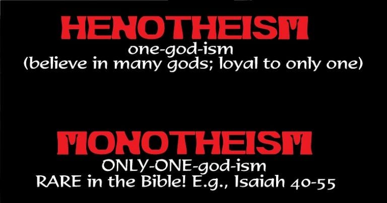 Monotheism in the Bible is not so obvious!