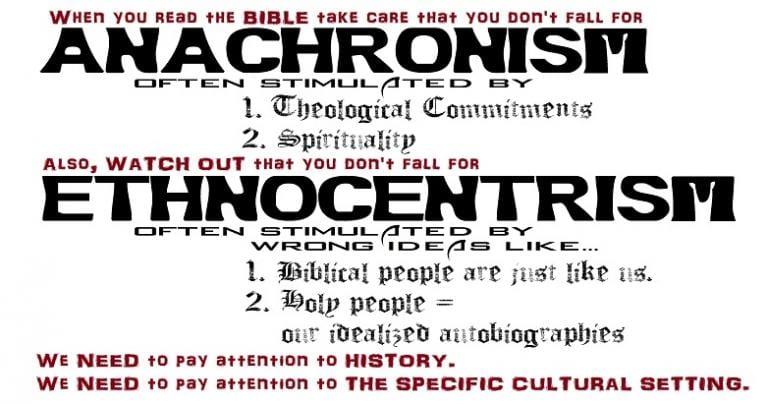 Anachronism, Ethnocentrism,, and Apostolic Succession