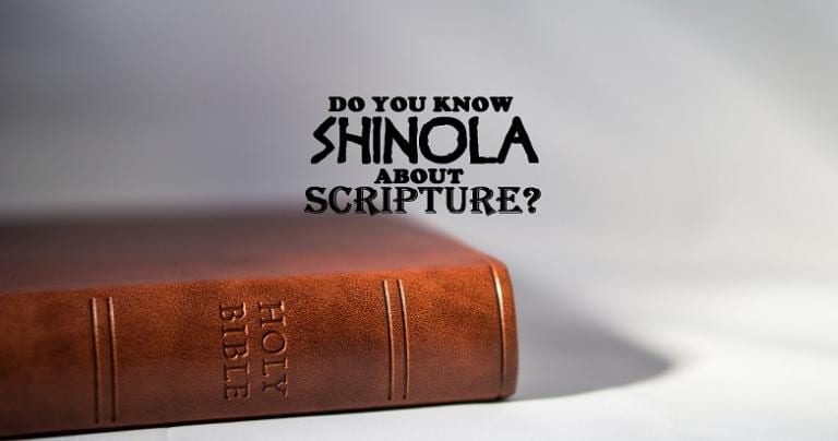 Shinola About Scripture