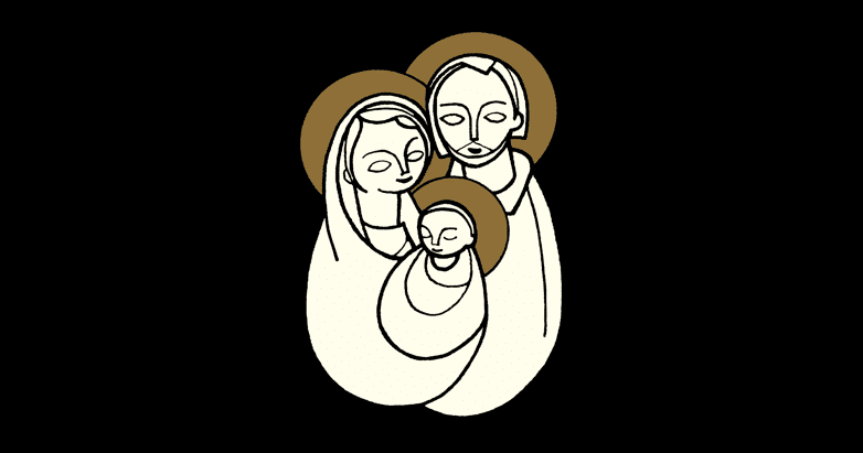 The Needy God-Baby Jesus with Mary and Joseph in a Wholly Human Holy Family