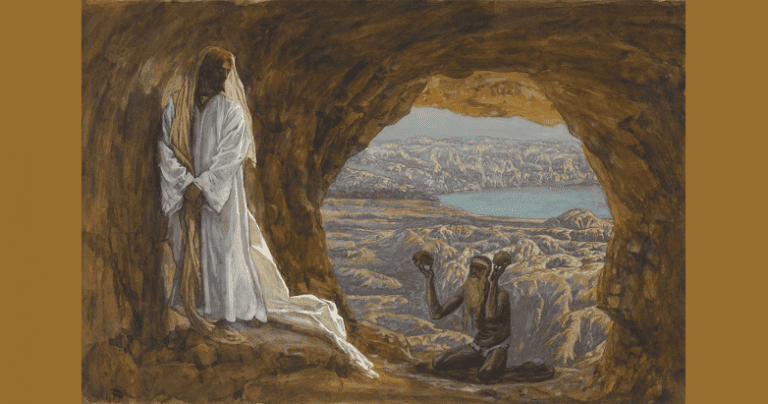 """The tempter approached and said to him, """"If you are the Son of God, command that these stones become loaves of bread."""""""