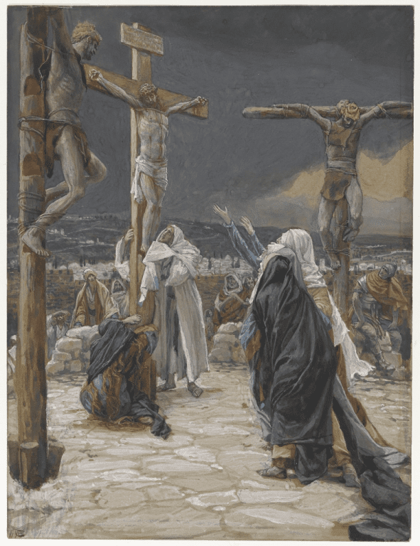 Tissot's depiction of the death of Jesus on the cross.