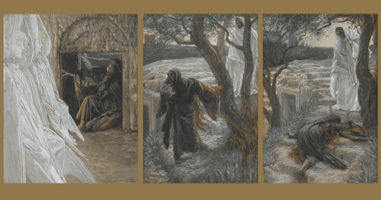 Three depictions by Tissot of Mary Magdalene on the morning of Christ's resurrection. My, oh my!
