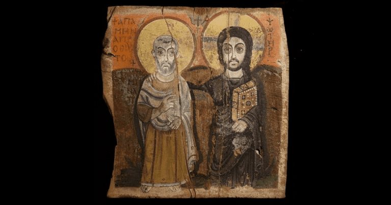 Christ and Abbot Menas
