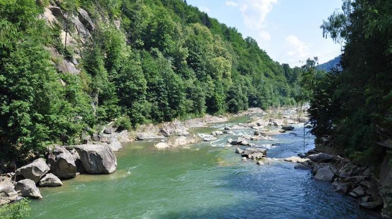 A photo of a Carpathian Mountain River
