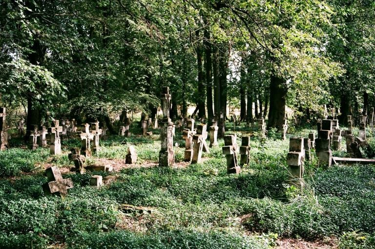 a photo of an Old Ukrainian Cemetery