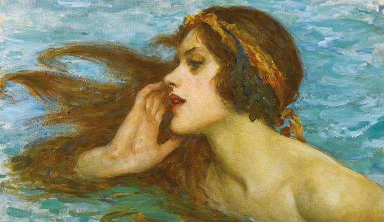 Painting of a Water Nymph or Rusalka