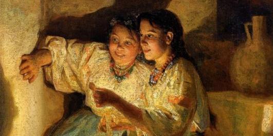Fortune Telling a painting by Nikolai Pimonenko