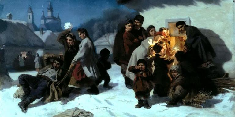 Painting of Kolyada the Ancient Slavic Winter Solstice