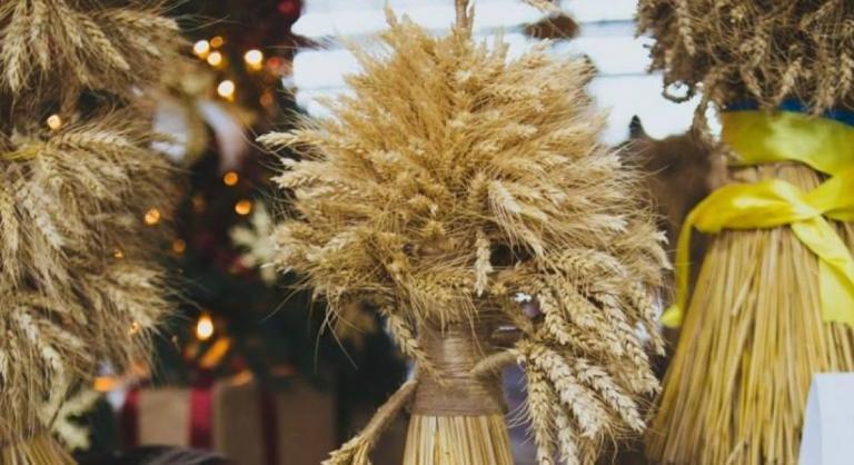 didukh an ceremonial wheat sheaf