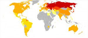 Suicide world map