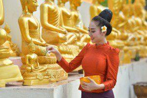 Songkran festival - Religious beliefs are play