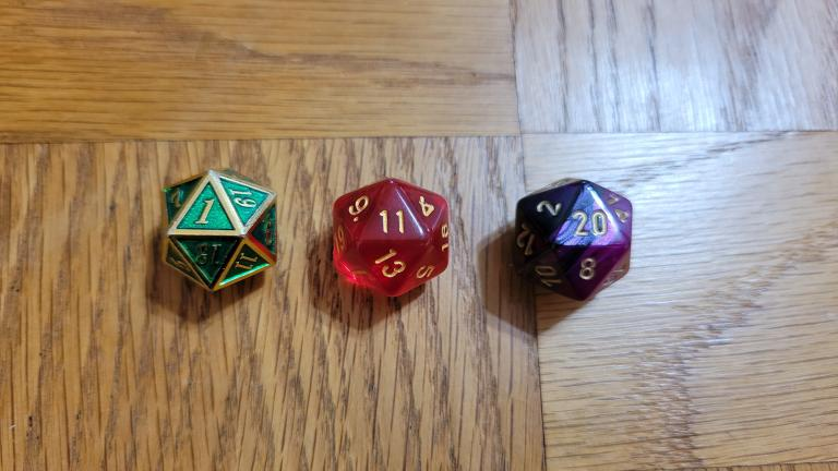 Using RPG symbology, high numbers are more successful, lower numbers are worse failures, and moderate numbers are mediocre results or close calls. Photo by Sidney Eileen.