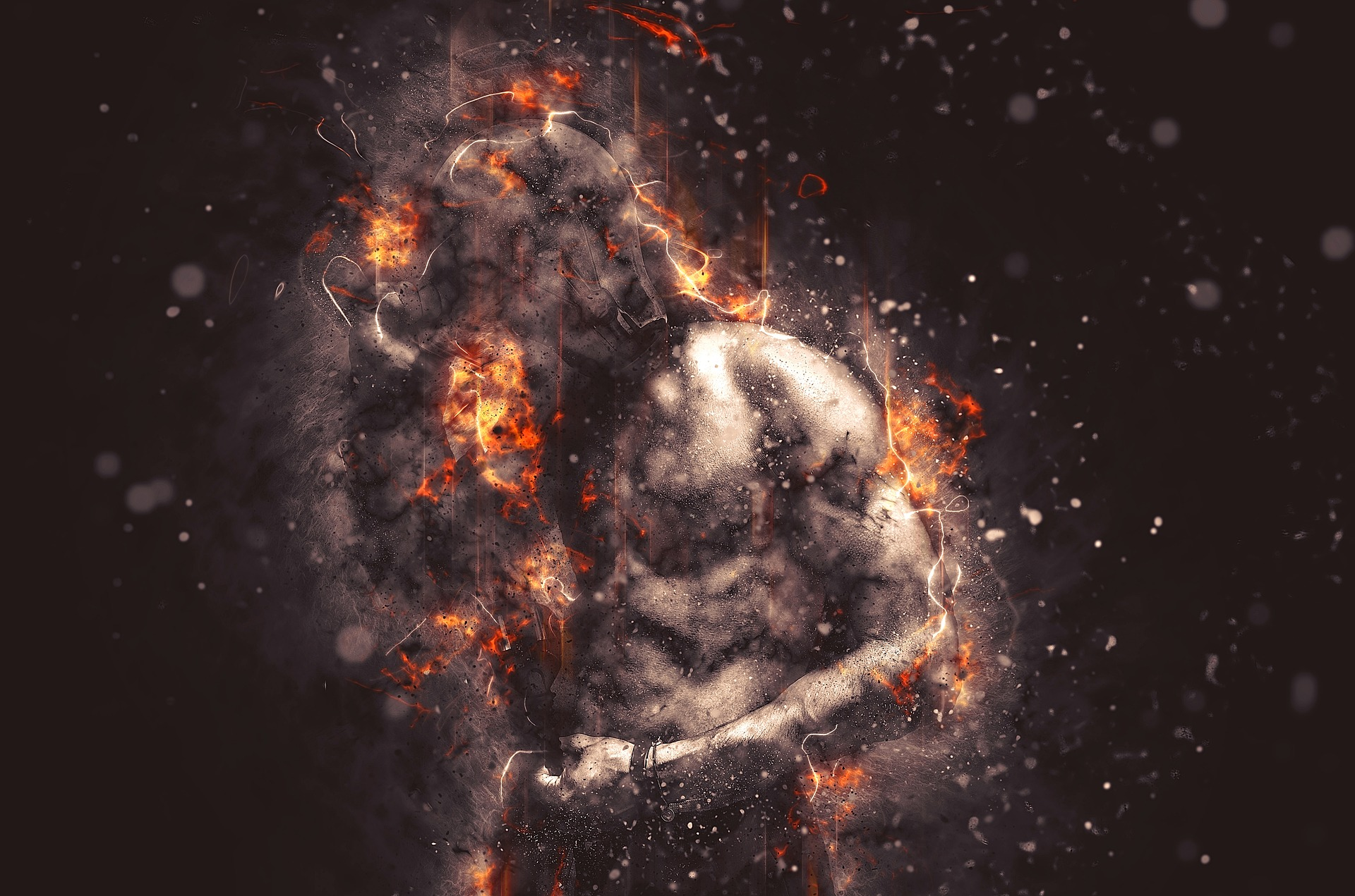 When we dwell in the anger, hold it too tight or too long, it can burn us utterly.