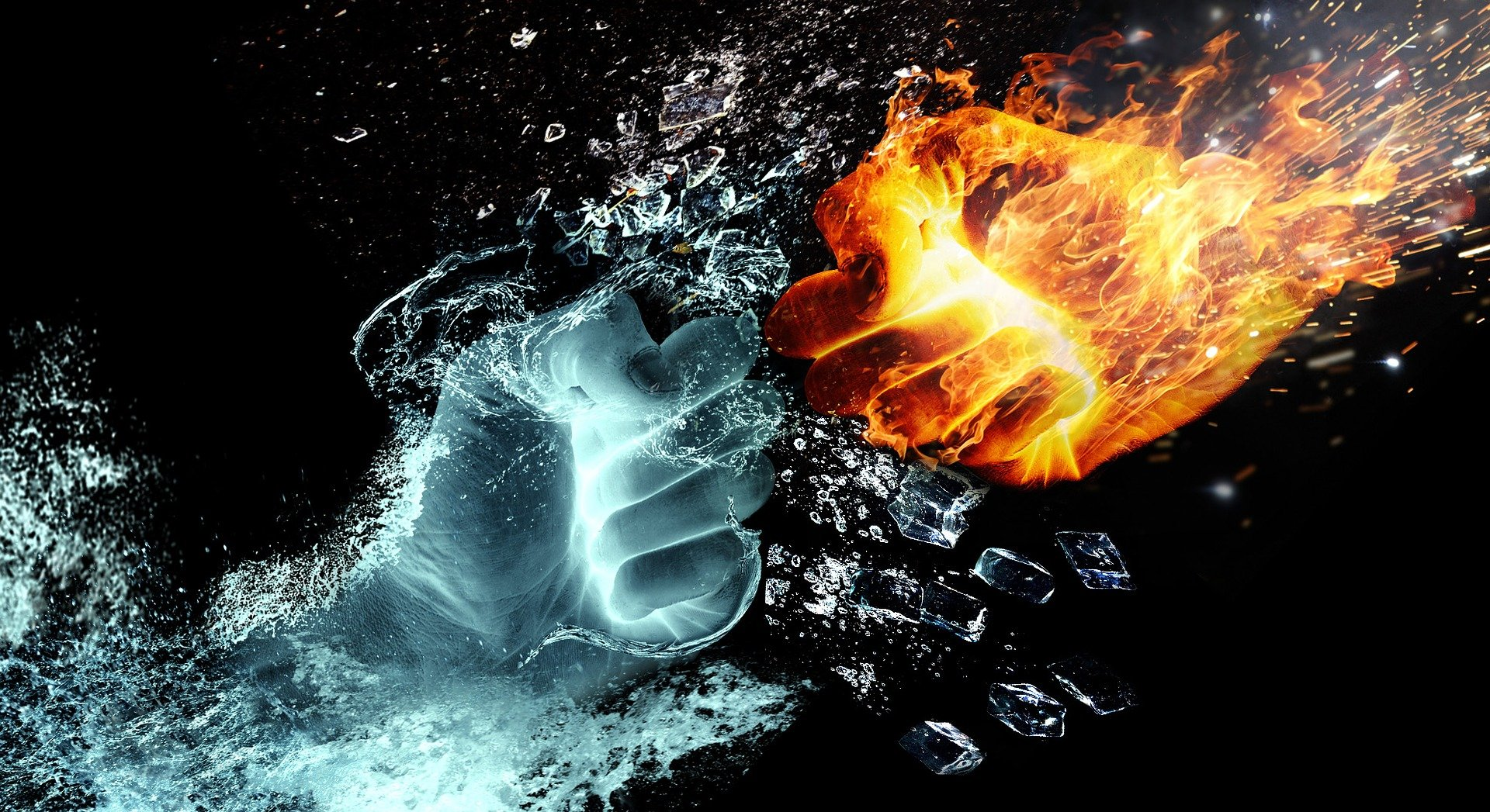 Fire can run both hot and cold, but fire is associated with anger for reasons that make sense to me.
