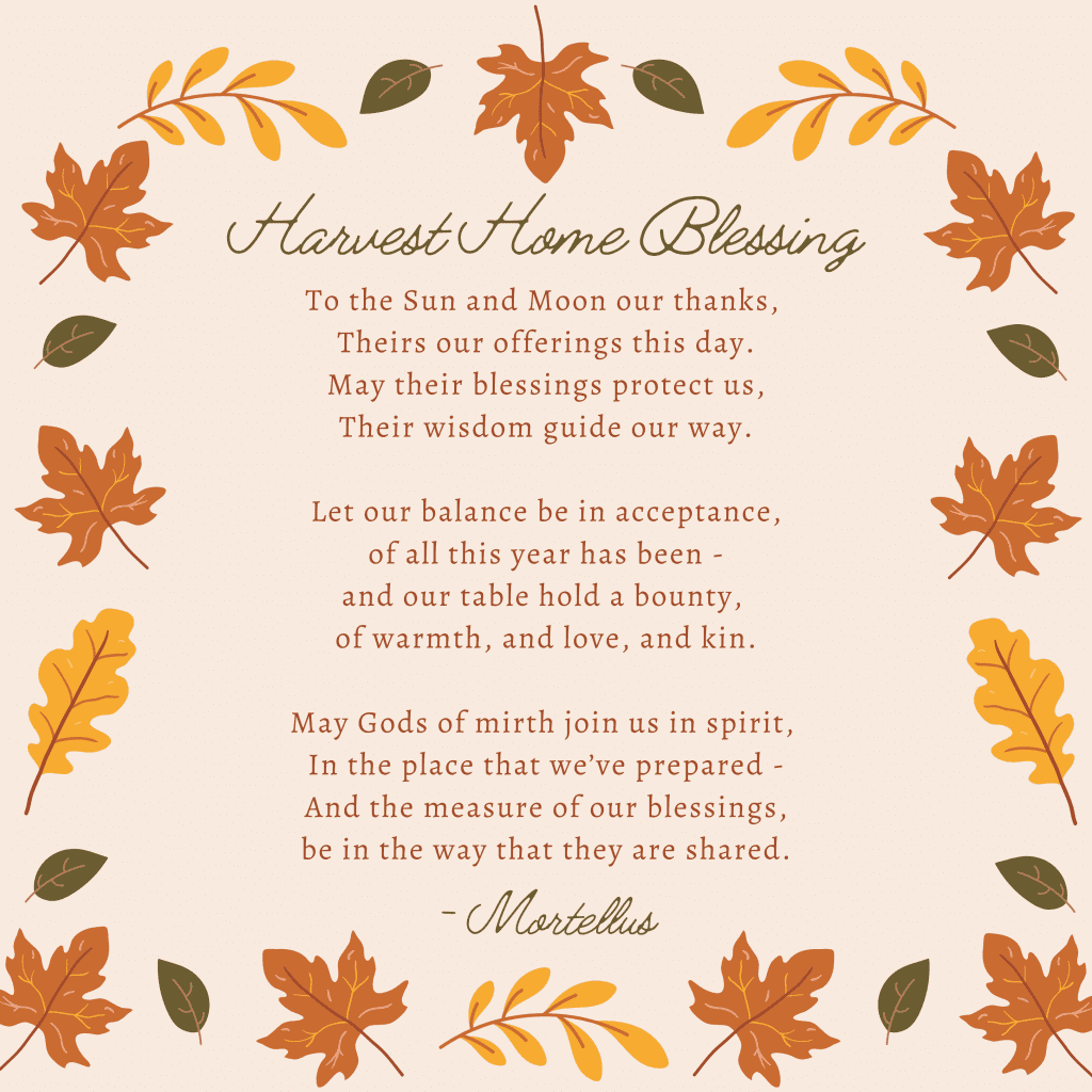 Harvest Home Blessing