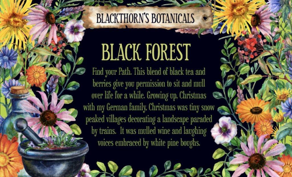 Blackthorn Botanicals Black Forest Tea - Photo by Amy Blackthorn