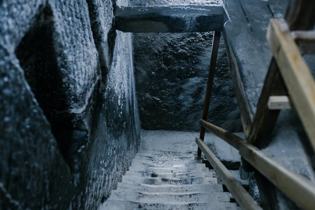 Old stone steps in salt mine, Pexels