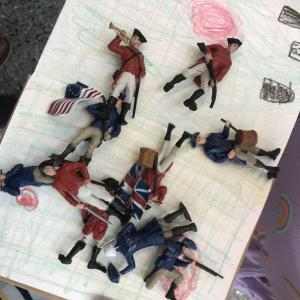 toy soldiers from the American Revolutionary War