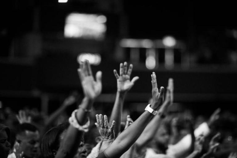 black Christians worshipping