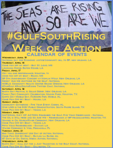 Gulf South Rising Week of action 2015
