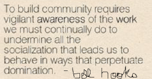 to build community bell hooks