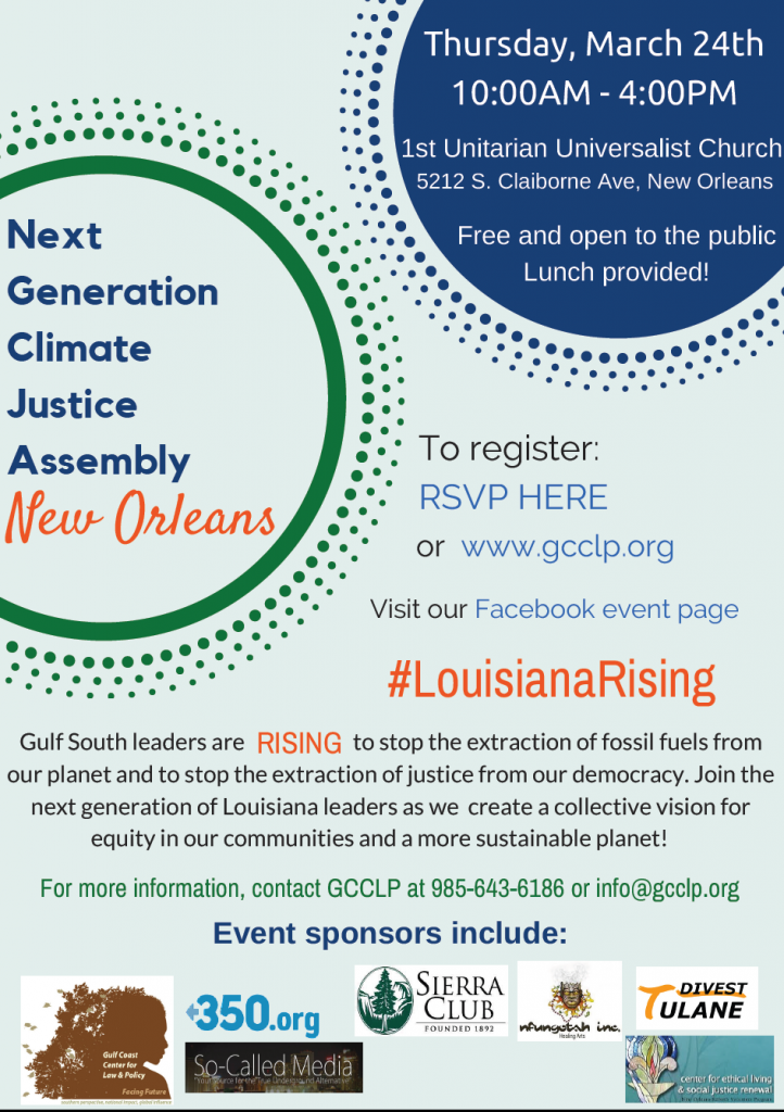 NEXT Generation Climate Justice Assembly 2016