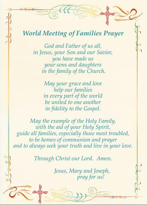 World Meeting of Families Prayer
