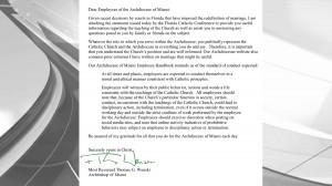 Letter from Bishop Wenski