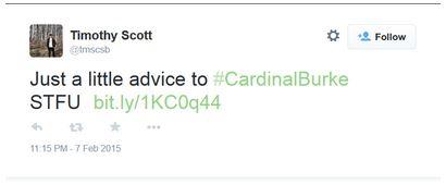 Fr Tim Scott tweet