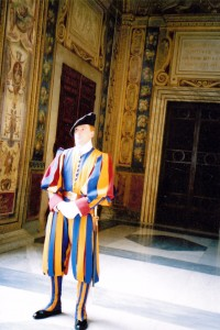 Swiss Guard standing at attention