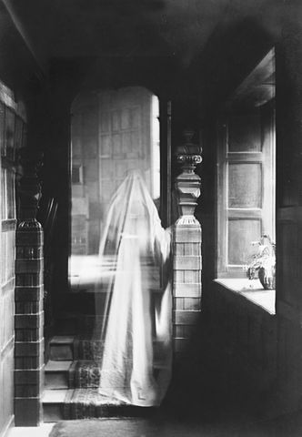 Image of a ghost created by double exposure in 1899.  By The National Archives UK (Ghostly sighting?) [see page for license], via Wikimedia Commons