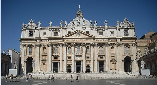 Facade of St Peters Basilica - cropped