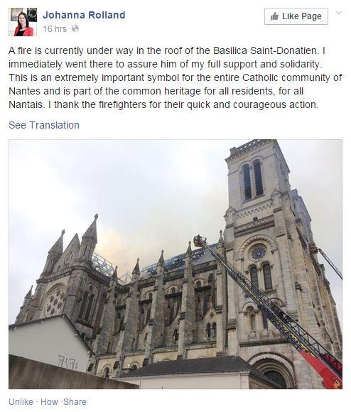 French mayor - statement re Basilica
