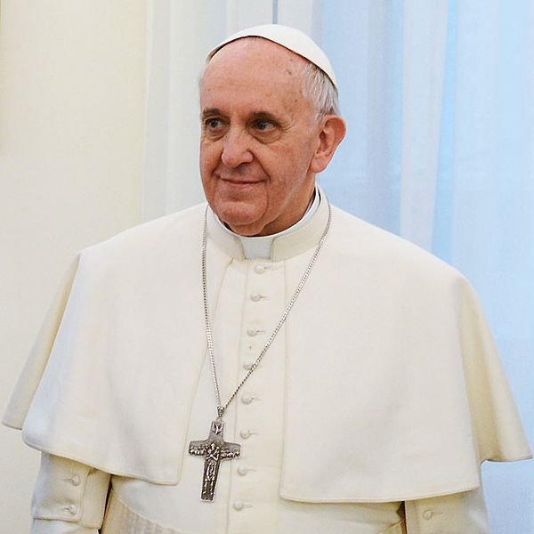 Pope Francis in March 2013.  presidencia.gov.ar [CC BY-SA 2.0 (http://creativecommons.org/licenses/by-sa/2.0)], via Wikimedia Commons