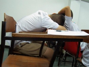 Sleeping students