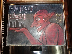 "The ""Nain Rouge"" or ""Detroit Dwarf"" By Fujiwara06 (Own work) [CC BY-SA 3.0 (http://creativecommons.org/licenses/by-sa/3.0)], via Wikimedia Commons"