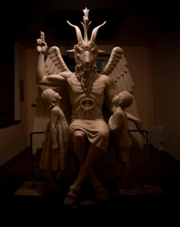 The Satanic Temple's Baphomet statue  (Image from Facebook / The Satanic Temple)