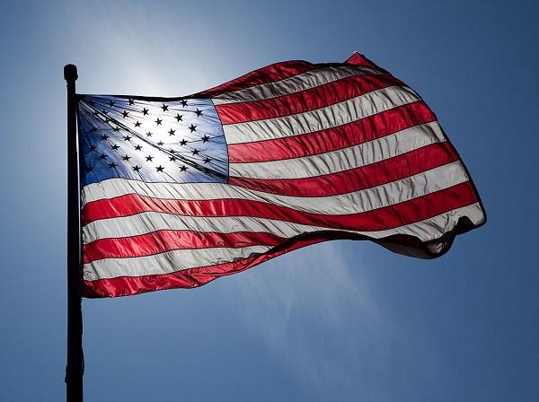 US Flag - backlit