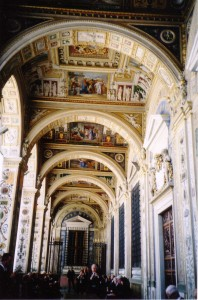 Vatican - hallway in the Apostolic Palace