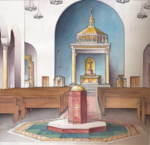 The proposed new Our Lady of the Rosary Church in Greenville. SC