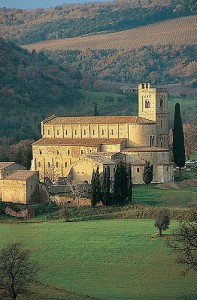 The Abbey of St Antimo, Tuscany, Italy - one of the inspirations for the new Our Lady of the Rosary