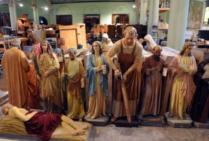 Unused Catholic Statues in a Warehouse