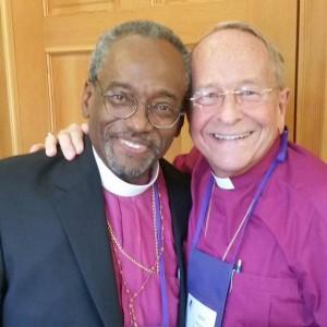 Presiding Bishop Curry with Bishop Gene Robinson