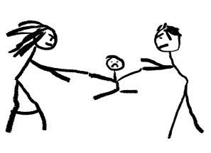 drawing-of-a-child-custody-battle