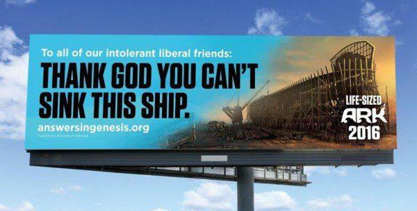 Ark Encounter billboard