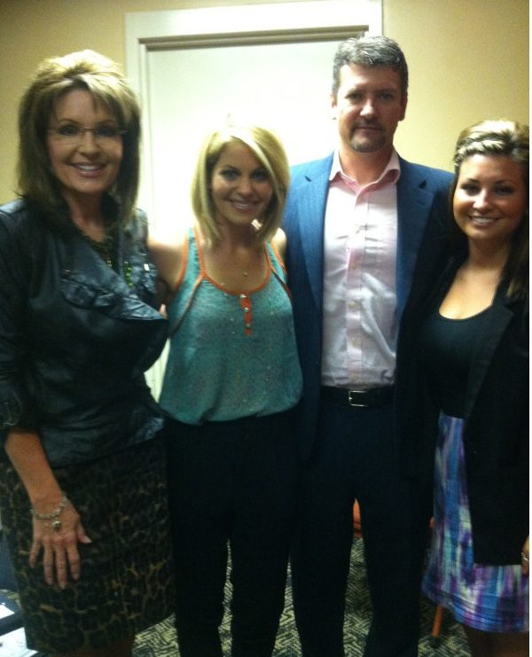 Sarah, Todd, and Willow with Candace Cameron on March 17, 2012