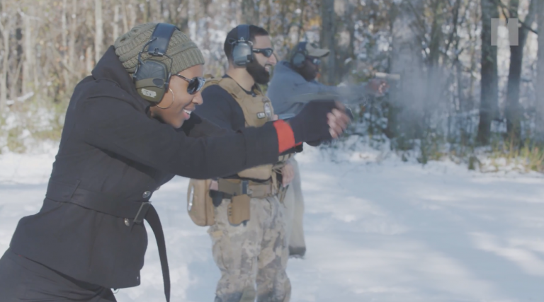 Wow! HuffPost Features Black Woman Teaching Other Women to Use Guns