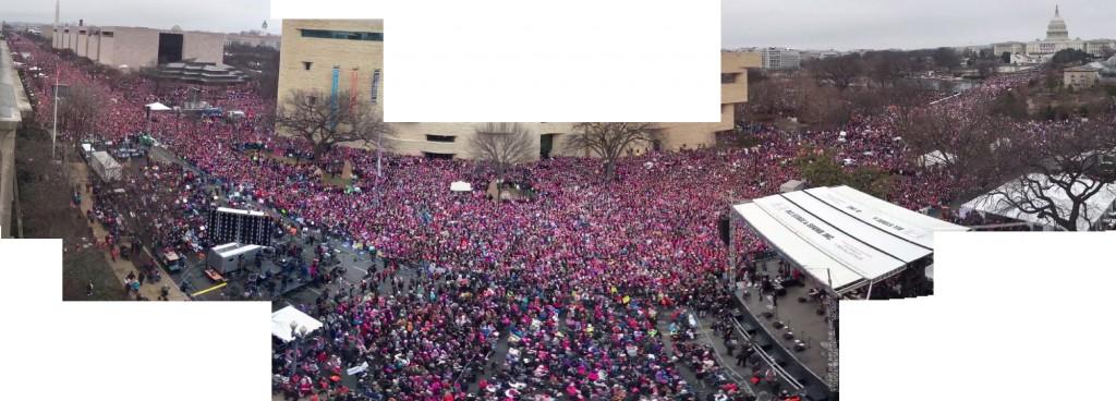 The Women's March in Washington D.C. on Jan 21, 2017